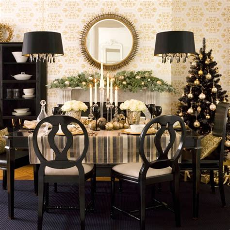 Dining Room Decorating Ideas Gold Black And Gold Dining Rooms Home Interior Design