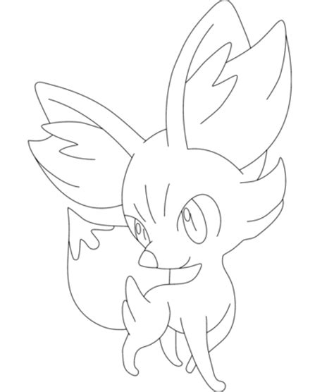 pokemon coloring pages fennekin fennekin coloring page free printable coloring pages