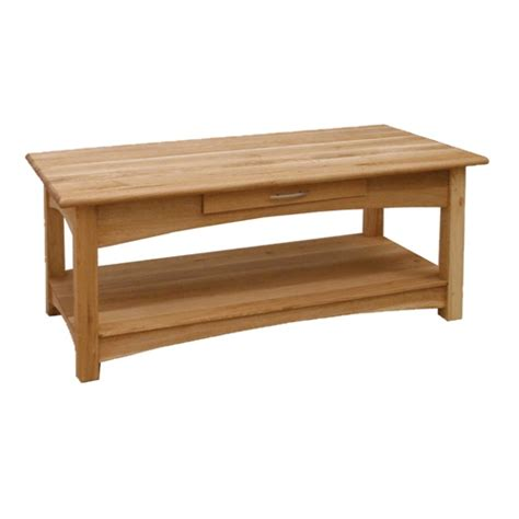 Oak Coffee Table Contemporary Oak Coffee Table With Drawer