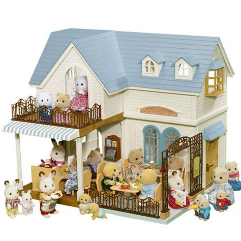calico critters doll house sylvanian families courtyard restaurant kids pinterest