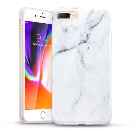 iphone 8 plus iphone 8 plus marble esr slim fit soft tpu rubber silicone cover