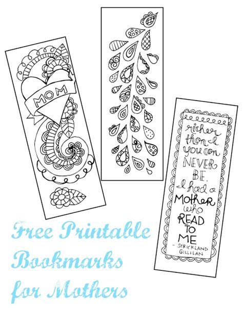printable bookmarks for kindergarten a lively hope mother s day printable bookmarks
