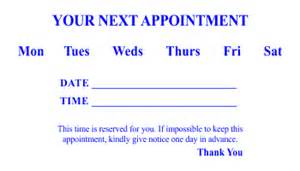 dentist appointment card template appointment card templates 3 and 4