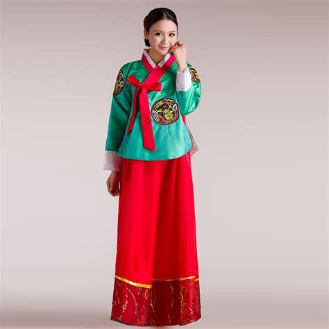 Korean Vest Dress One Set costumes hmong clothes national traditional hanbok