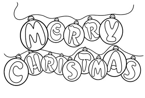 Free Printable Merry Christmas Coloring Pages Merry Words Coloring Pages