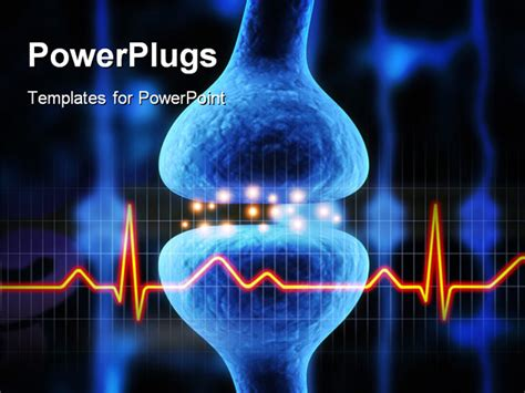 Powerpoint Template Anatomy Depiction Of An Active Receptor With Ecg Wave And Black Color 24671 Anatomy Ppt Templates Free
