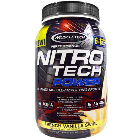 Nitrotech Power 5 Lbs Muscletech muscletech nitro tech power vanilla swirl 2 lbs 907 g iherb