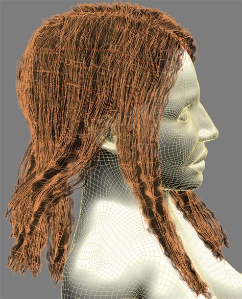 Hairstyle Mannequin by Hairstyles On Mannequin 3d Model Max Obj 3ds Fbx