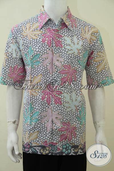 Kamen Batik Motif Daun Pepaya jual busana batik cowok masa kini motif daun pepaya baju