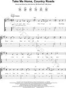 denver quot take me home country roads quot guitar tab in a
