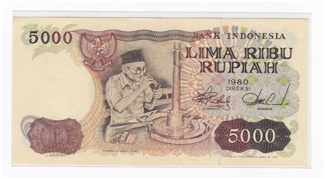 Uang Kuno 5000 Rupiah Pengasah Intan Tahun 1982 jual uang kertas kuno untuk mahar 5 000 rupiah tahun 1980