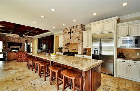 gourmet kitchen features beautiful 15 ft