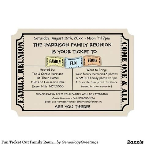 21 best images about family reunion invitations on pinterest