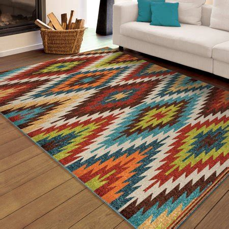Bright Aztec Rug by Orian Rugs Indoor Outdoor Bright Aztec Prescott Multi Area