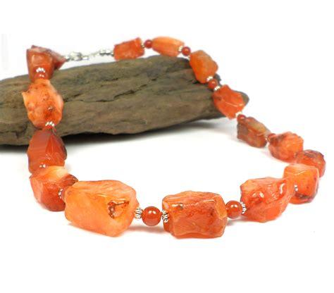 gemstone jewelry orange necklace carnelian by