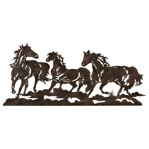 Wrought Iron Flatware by Metal Running Horse Wall Art
