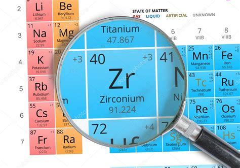 zirconio tavola periodica simbolo di zirconio zr elemento della tavola periodica
