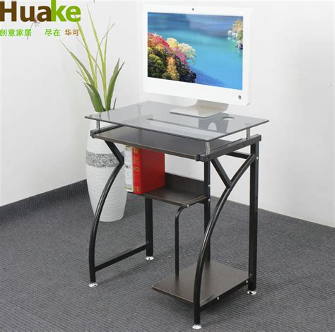 Small Computer Desk With Wheels China May 65cm Glass Desktop Computer Desk Study Table 65 Cm Movable Small Computer Desk With