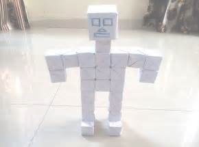 How To Make Paper Robot - how to make a 3d paper robot with origami 3d cube and 3d