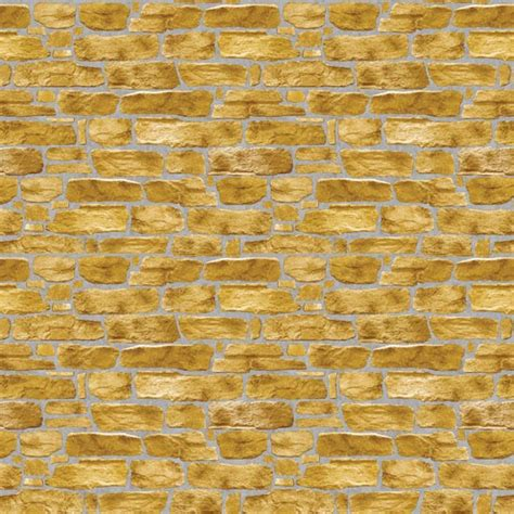 Qw Wallpaper Sticker Light Brown Brick golden brown brick self adhesive wallpapers wallstickery