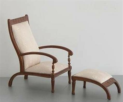 Bedroom Chair With Ottoman by Chair Ottoman Living Room Bedroom Dollhouse Miniatures 1