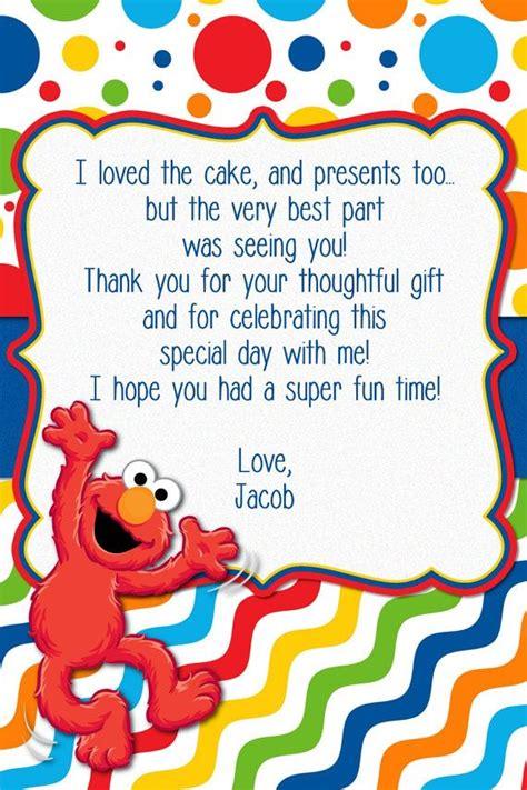 elmo thank you card template 25 best ideas about elmo birthday on elmo