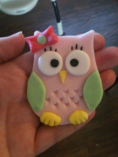 sweet owl cupcake topper or cake decoration cupcakes
