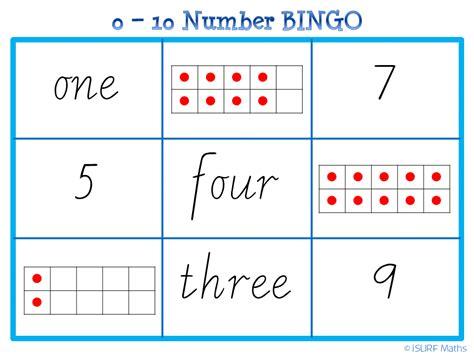 random number cards printable isurf 0 10 number bingo