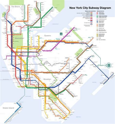 map new york city new york city subway map