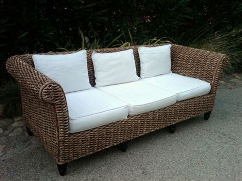 seagrass loveseat pre loved seagrass sofa eco home pinterest