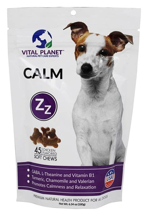 calming treats for dogs buy vital planet calm treats for all dogs chicken flavored 45 soft chews at