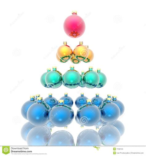 christmas tree from spheres stock images image 7132144
