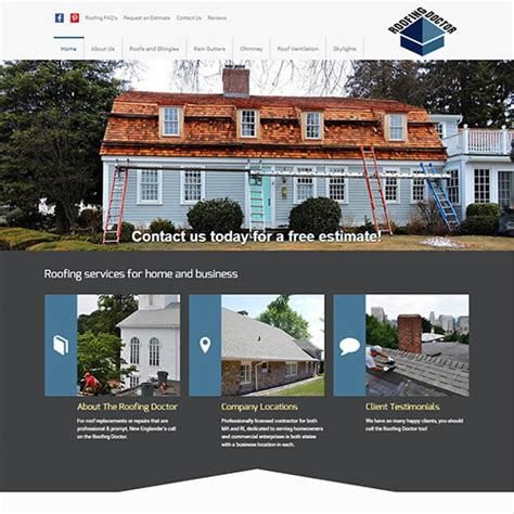 Mba Roofing by Roofing Doctor Content Management System Responsive