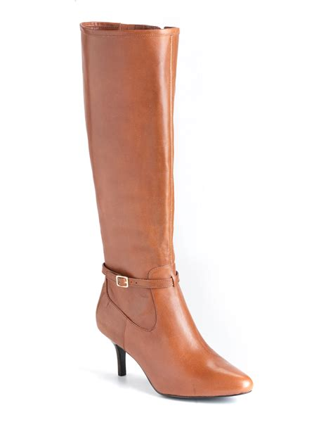 ralph leather boots by ralph nellie leather boots in brown