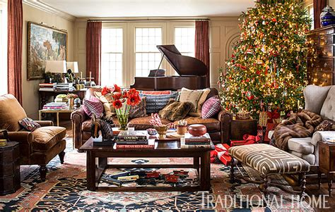 christmas home interiors christmas in a new england clapboard traditional home