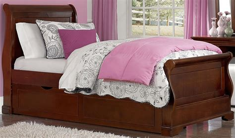 sleigh bed twin walnut street chestnut riley twin sleigh bed with trundle