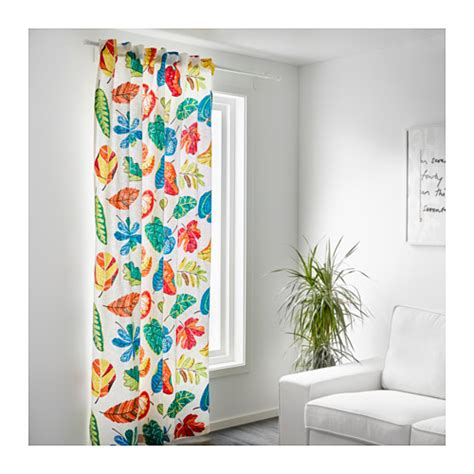 ikea textiles curtains jonill fabric white multicolour 150 cm ikea