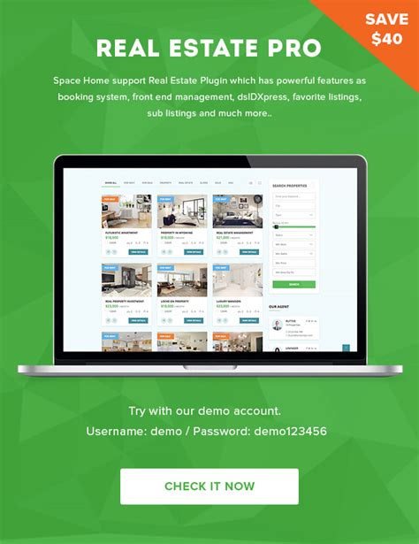 themeforest real estate space home real estate wordpress theme by plazart