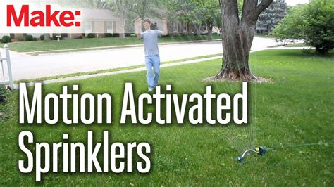 motion activated sprinklers youtube