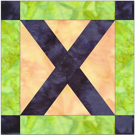 Kitchen Collections Coupons foundation pieced letter x paper piece quilting block