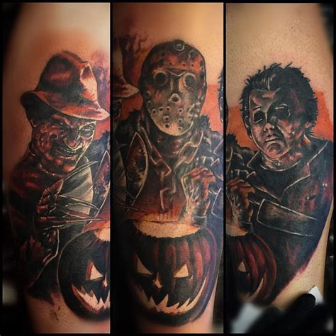 michael myers tattoos 43 best leg tattoos michael myers images on