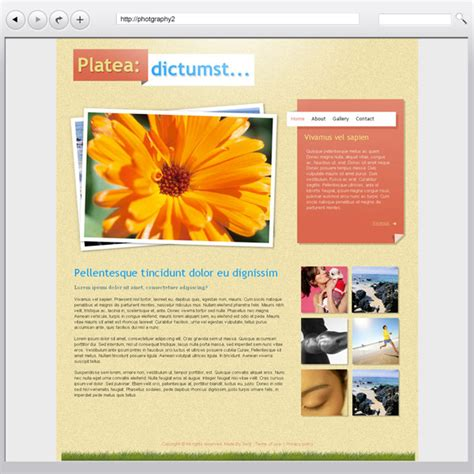 free photo website templates download from serif