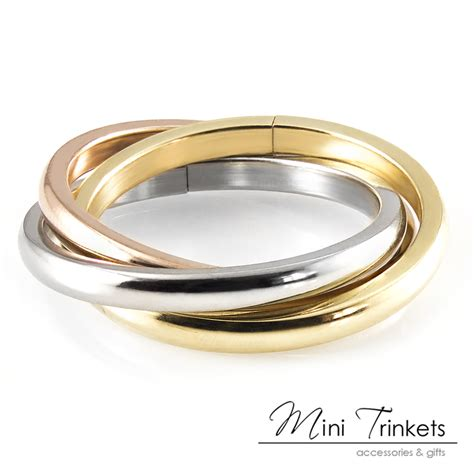 Band Rings by Russian Wedding 3 Band Ring 18k Gold
