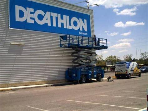 decathlon de camas sevilla decathlon camas sevilla cartel lona publicitaria de gran