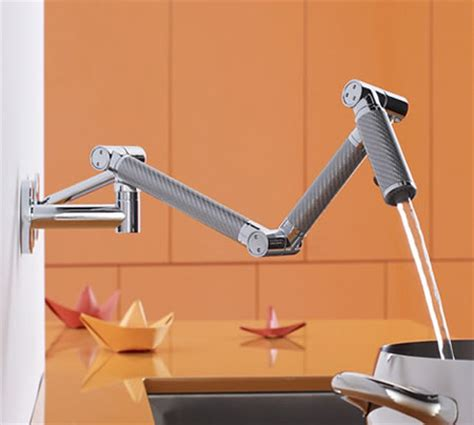 kohler karbon kitchen faucet kohler karbon wall mount kitchen faucet is a beauty