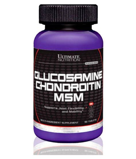 Ultimate Nutrition Glucosamine Chondroitin 90 Tabs ultimate nutrition glucosamine chondroitin msm 90 tab 90 no s unfalvoured buy ultimate