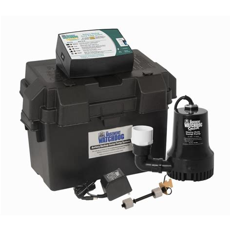 basement watchdog sump shop basement watchdog 0 33 hp plastic battery powered sump at lowes