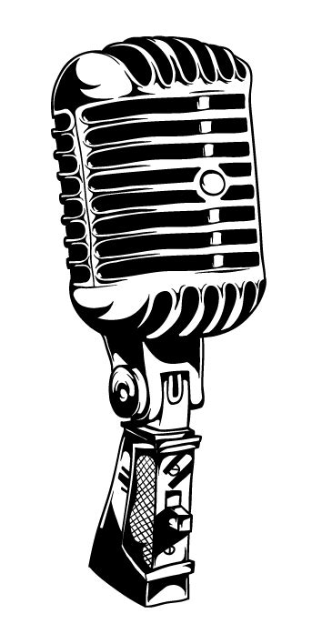 Vintage microphone at clkercom vector online clipart free