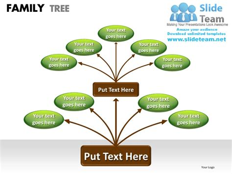 Family Tree Powerpoint Presentation Slides Ppt Templates Genealogy Powerpoint Template