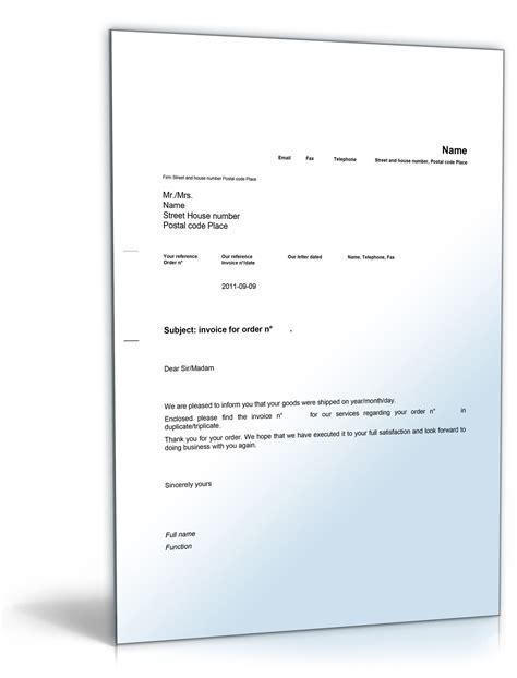 Musterbrief Angebot In Englisch Rechnung Im Anhang Englisch De Musterbrief